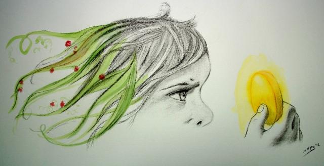 Ilustración: hormiga verde