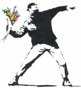 Molotov Flowers Banksy